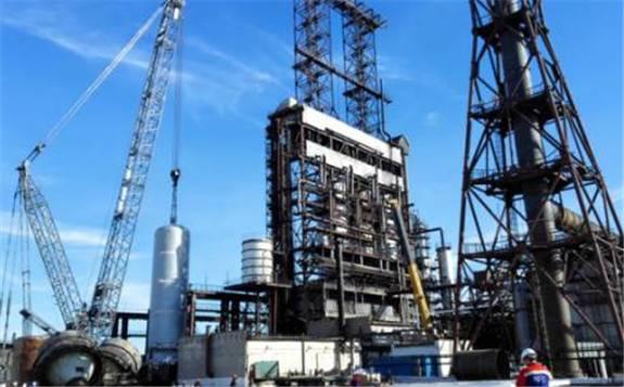 中国化学工程承建的哈萨克斯坦最大石化项目超计划完成年度建设目标