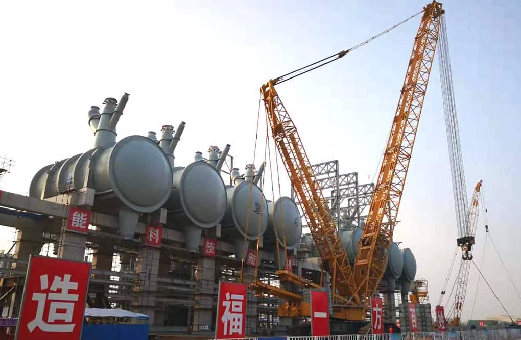 全球单套产能最大的丙烷脱氢项目反应器成功吊装就位
