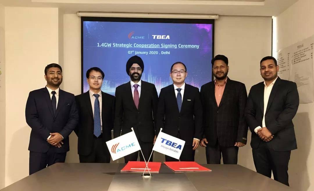 特变电工新能源与印度ACME签订1.4GW逆变器战略合作协议