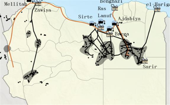 利比亚五个港口的石油出口遭遇不可抗力