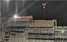 乌东德水电站大坝主体工程2号坝段浇筑到顶