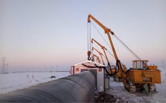 中俄东线天然气管道工程(中段)正式复工