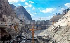 世界在建最大水电站白鹤滩水电站左岸大坝11号坝段上升至高程766米