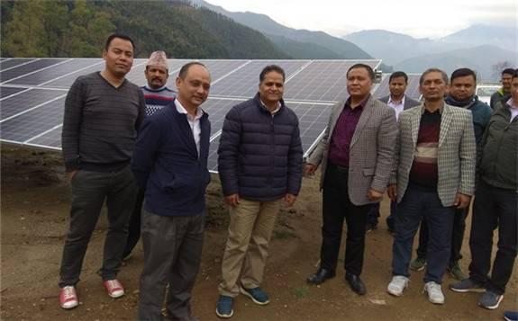 尼泊爾最大太陽能發電廠將于4月開始投入使用