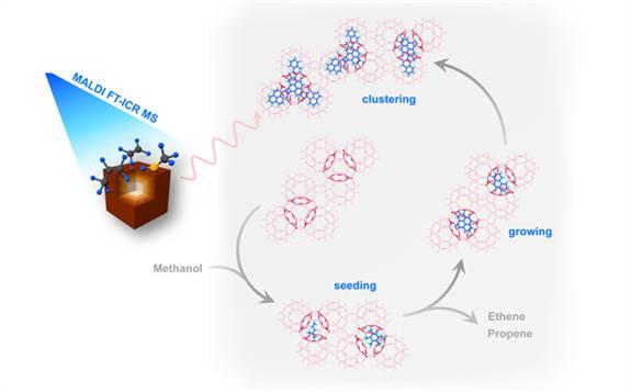 大连化学物理研究所发现分子筛催化积碳跨笼生长机制