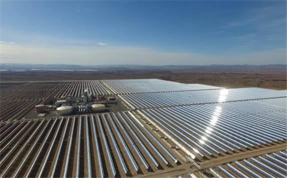 光伏与蓄热相结合!摩洛哥建设800MW太阳能混合发电项目