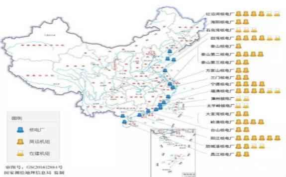 国家核安全局:最新发布中国大陆核电厂分布图