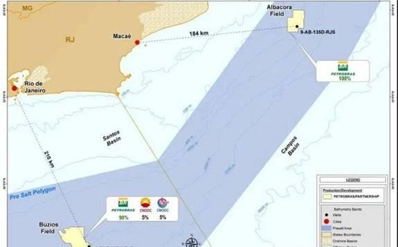 巴西石油在桑托斯盆地和坎波斯盆地发现盐下石油