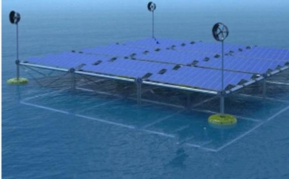 德国公司开发世界首个混合可再生能源浮动平台