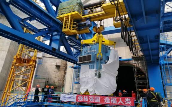 田湾核电6号机组、红沿河核电6号机组分别实现主泵电机吊装就位节点