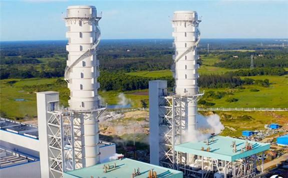 海南岛首座大型天然气调峰电厂全面投产发电