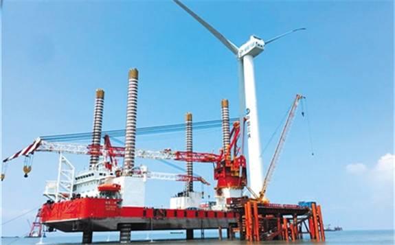 中国单机容量最大海上风电机组并网发电