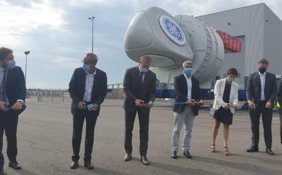 法国首个海上风电场的首批机舱正式启用