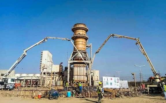 哈电国际承建的伊拉克阿玛拉项目4号余热锅炉基础混凝土浇筑任务顺利完成