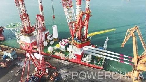 国内先例!海上风电安装船实现港口成套风机设备整体发运