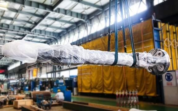 东方电气承制的英国欣克利角C核电项目1号机组重型支撑产品完成包装