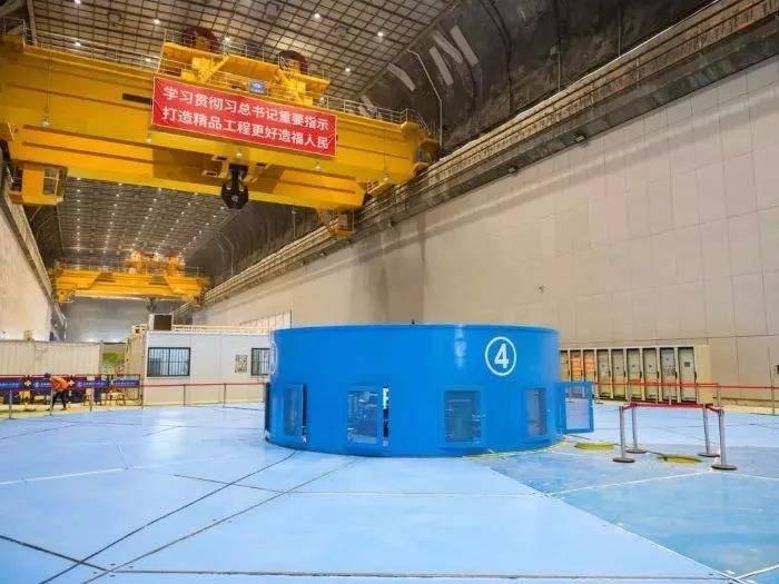 乌东德水电站12台85万千瓦水轮发电机组投产过半