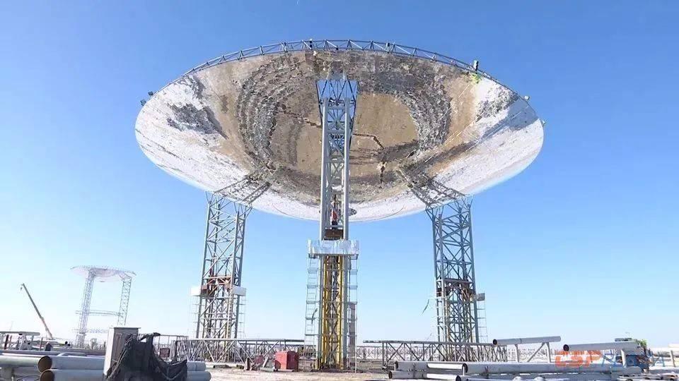 玉門鑫能二次反射塔式50MW光熱發電項目建設進展