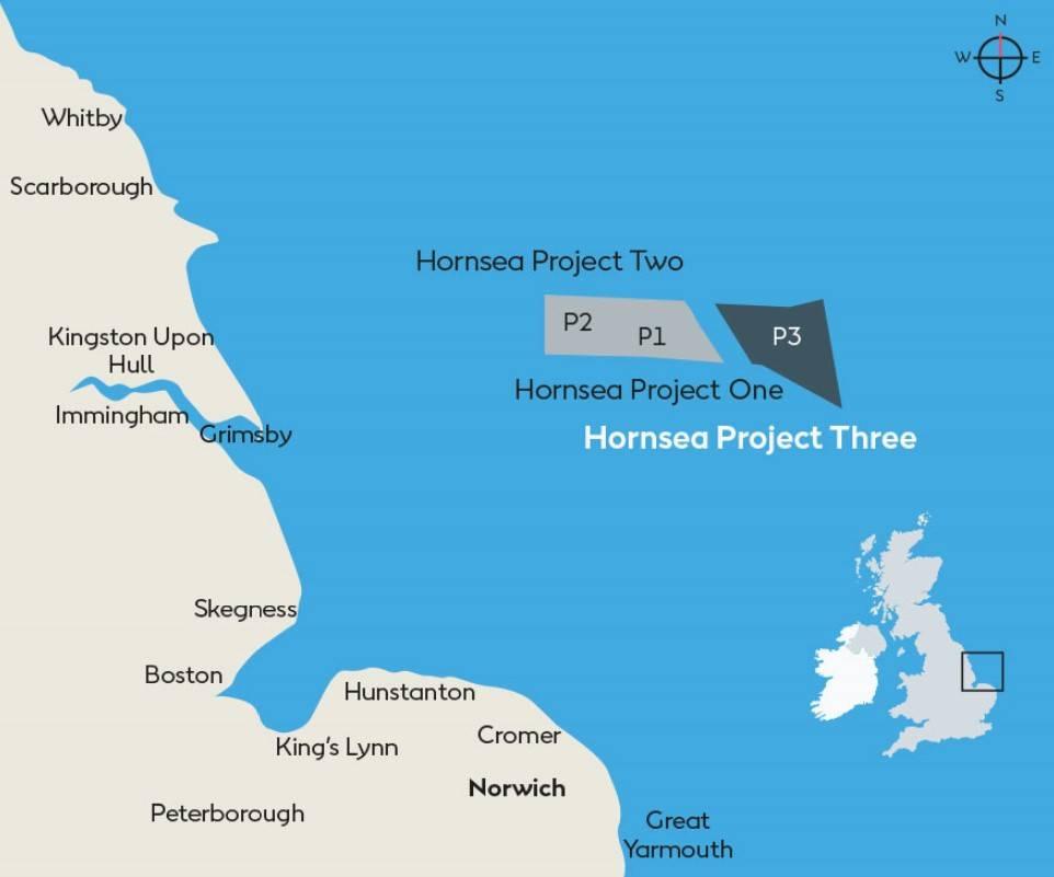 英国批准霍恩西(Hornsea)3海上风电项目
