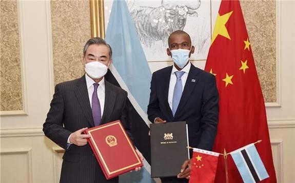 """王毅:中非签署第46个共建""""一带一路""""双边协议"""