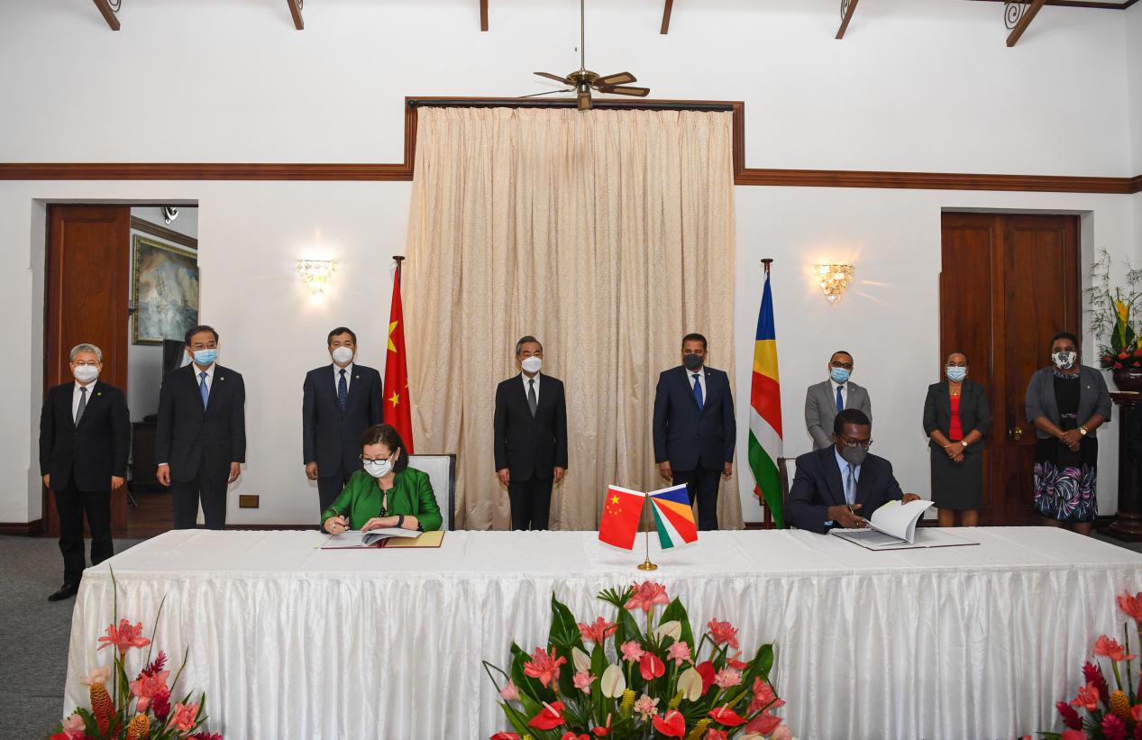 中國與塞舌爾簽署應對氣候變化南南合作塞舌爾低碳示范區建設實施諒解備忘錄