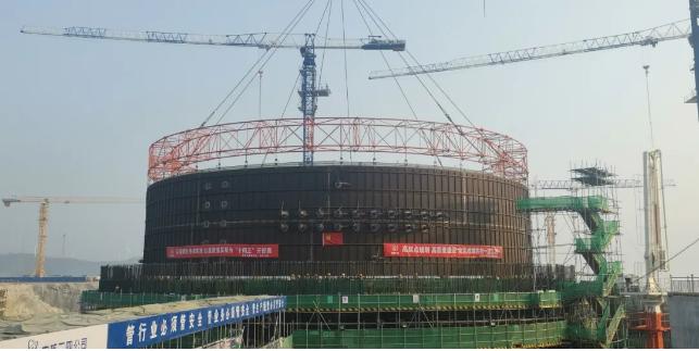 华龙一号漳州核电2号机组完成钢衬里模块二吊装