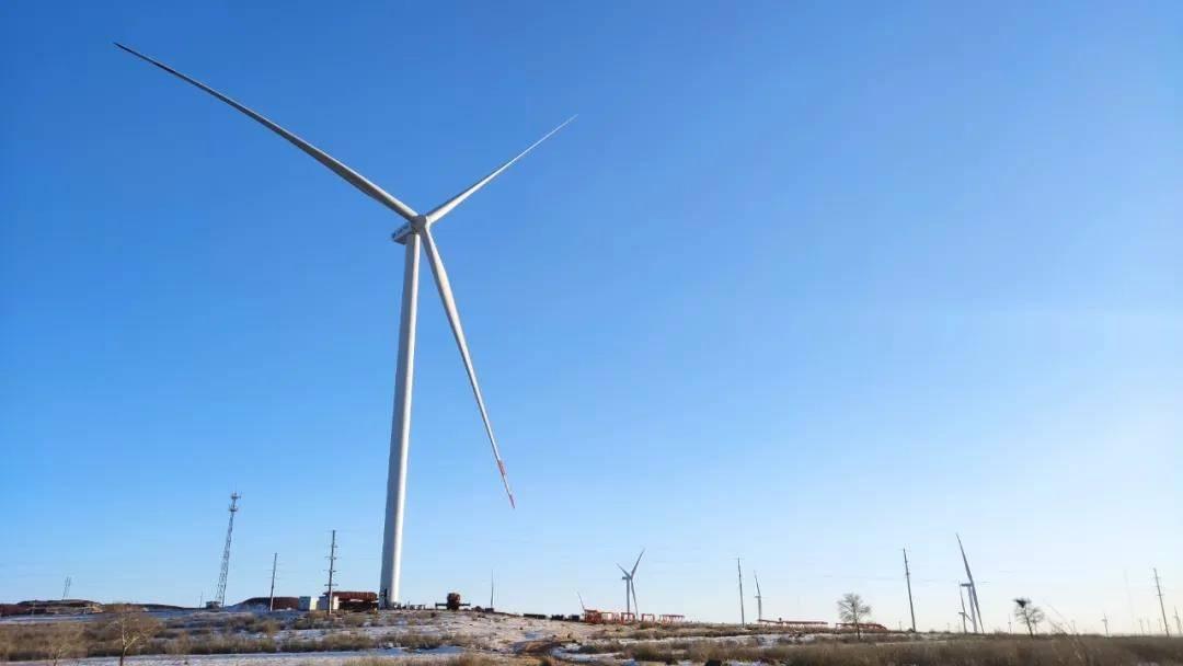 运达风电自主研发的WD164-3.XMW风电机组在张北电科院试验风场完成吊装