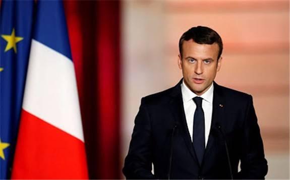 """法国总统马克龙:愿当美国和伊朗就伊朗核问题对话""""调解人"""""""