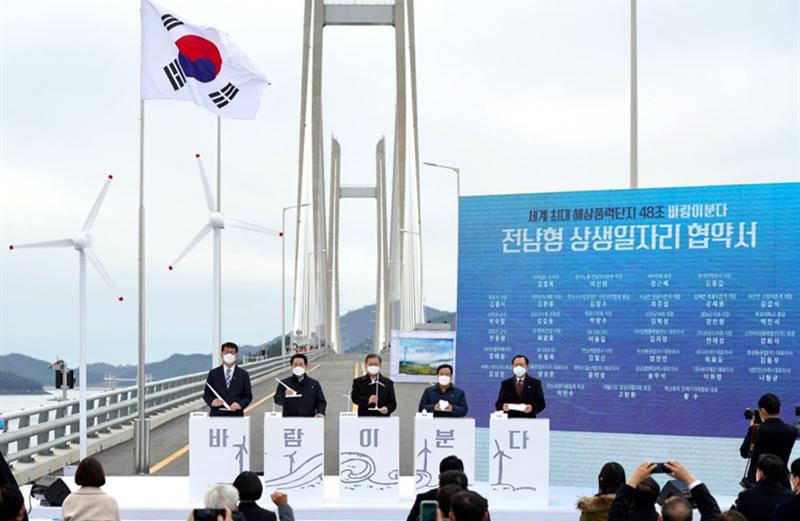 韩国33家海上风电企业/团体签署协议共同开发8.2GW海上风电项目集群