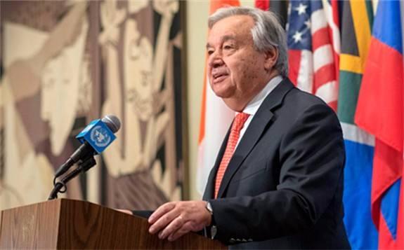 联合国秘书长古特雷斯呼吁全球采取行动遏制气候变化