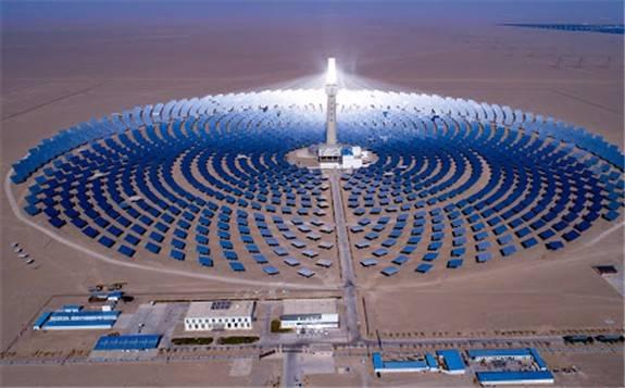 中国装机规模、储能规模最大的光热电站开建