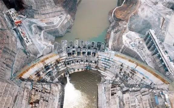 吉林一号卫星抓拍白鹤滩水电站蓄水实况(高清组图)
