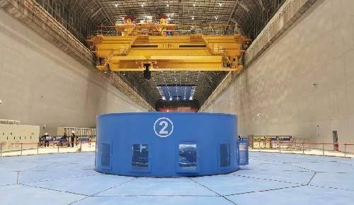 乌东德左岸电站第五台机组投产发电