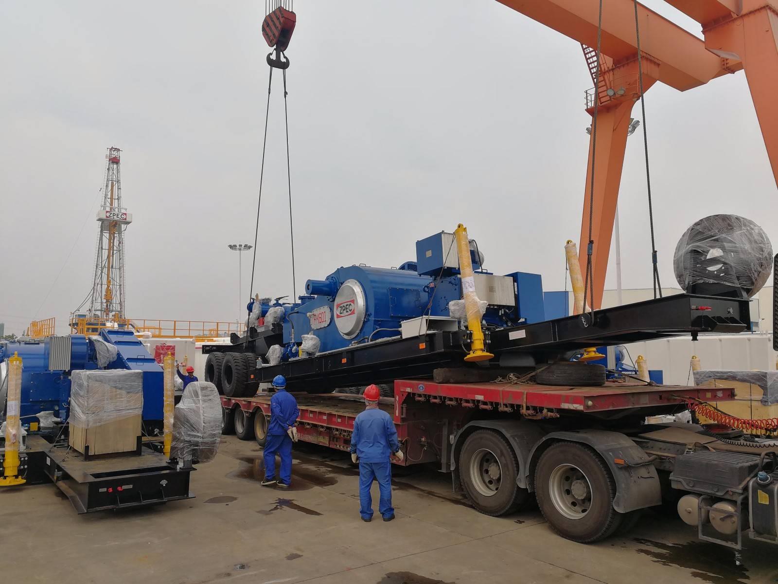 中曼装备集团沙特项目2台40拖挂钻机完成发运