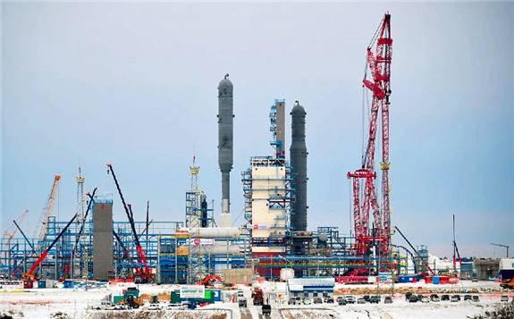 中國能建參建俄羅斯最大天然氣加工廠首列生產線投產
