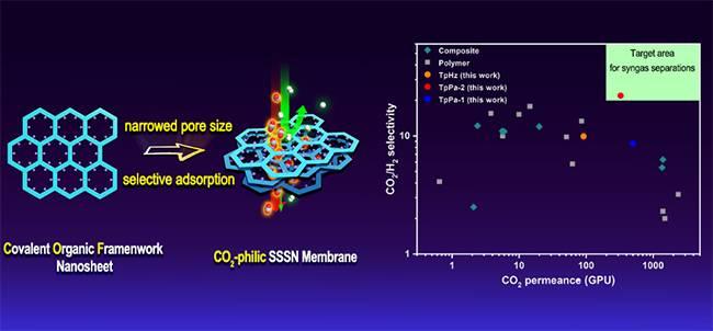 大连化物所制备出高性能超薄二氧化碳分离膜
