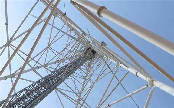 用綠色技術發展綠色能源 ——青島膠州建成全球最高構架式鋼管風塔|科技支撐碳達峰碳中和