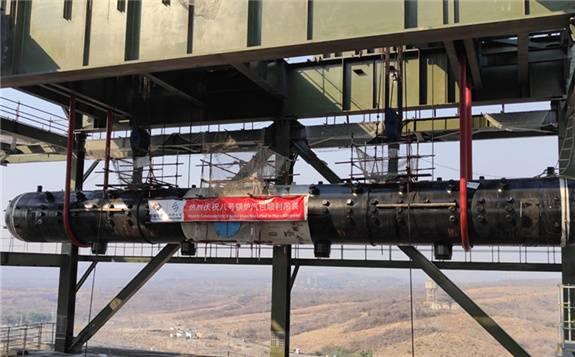 中国电建津巴布韦旺吉电站项目八号锅炉汽包顺利吊装就位