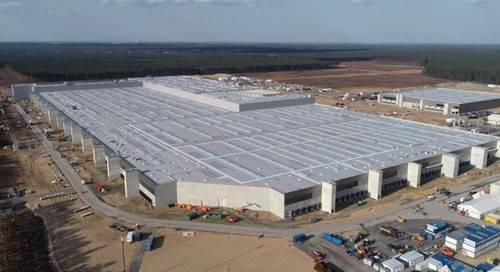 特斯拉柏林电池工厂已开始墙壁施工 建成后年产能预计超过 100 GWh