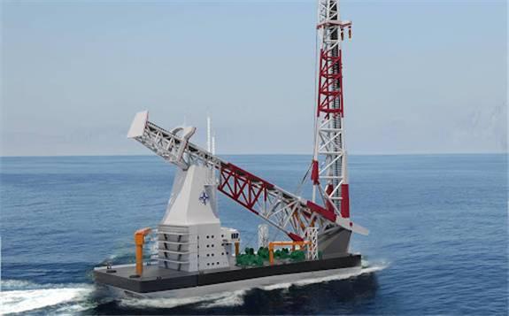 集六项世界之最于一身 140米级海上风电打桩船下水