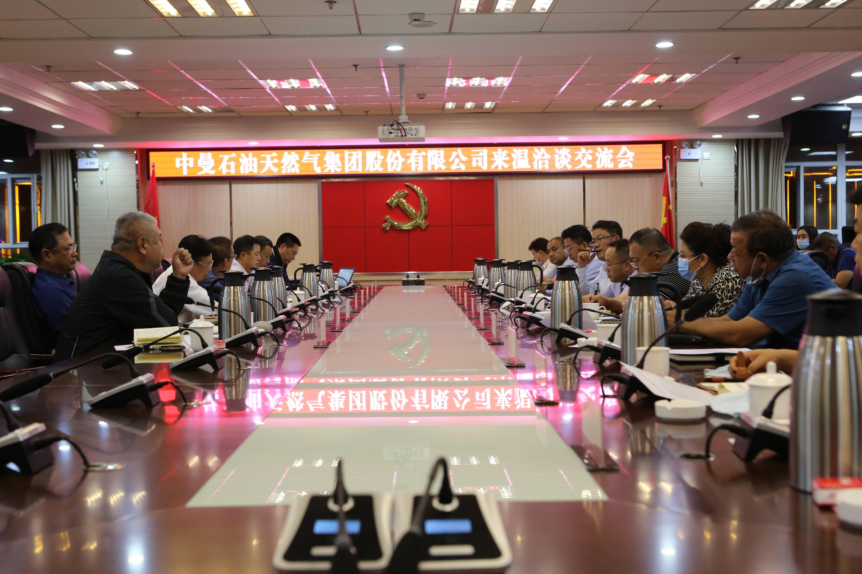 中曼集團董事長李春第一行與溫宿縣各級領導舉行洽談交流