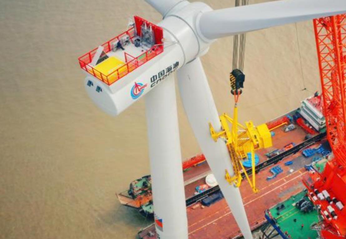 中国海油首个海上风电项目全容量并网发电